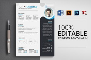 CV Resume & CoverLetter Word Format
