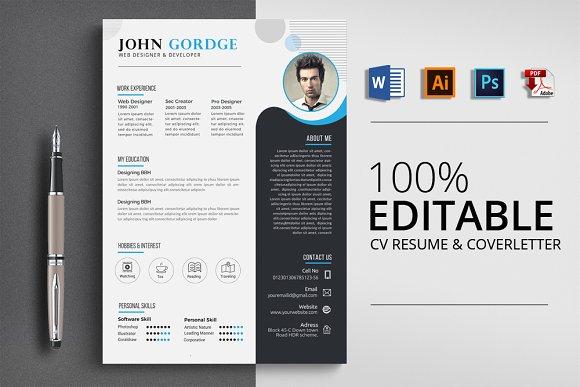 CV Resume CoverLetter Word Format