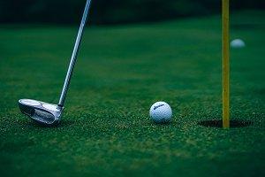 Golf Club and a Golf Ball