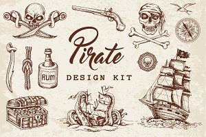 Vintage Pirate Design Kit