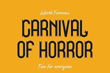 Carnival  |  Unique Display Typeface