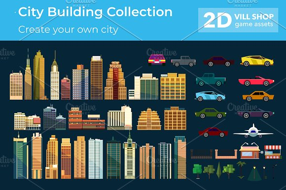 City Building Collection in Graphics