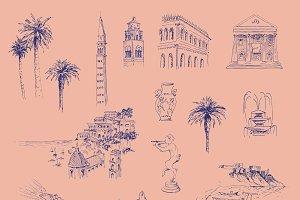 Italian Coast Wallpaper Pattern