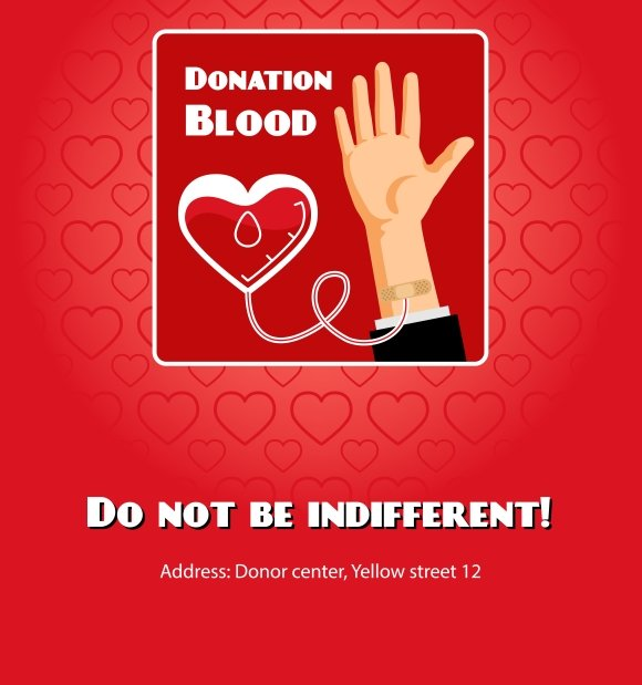 Blood donation poster graphics creative market thecheapjerseys Gallery
