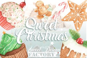 Christmas cakes cliparts