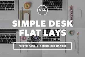 Desk Flat Lay Photo Pack Bundle