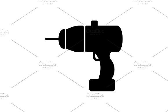 Web line icon. Electric screwdriver