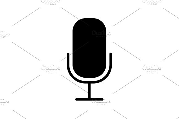 Web icon. Microphone, voice search  in Graphics
