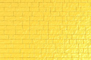 A yellow brick wall. 3D illustration