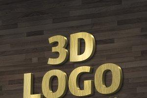 Logo - lettering  - 3D Mockup