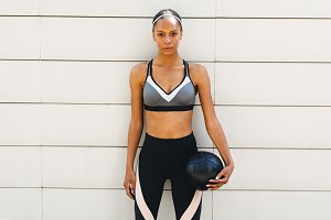 Athletic young woman outdoors