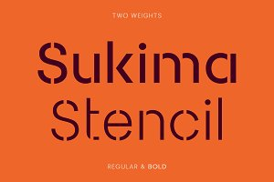 Sukima Stencil – A Display Font