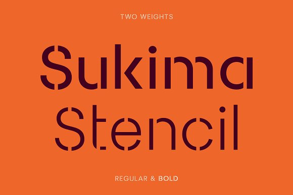 Sukima Stencil A Display Font