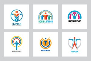 Abstract Human People Vector Logo