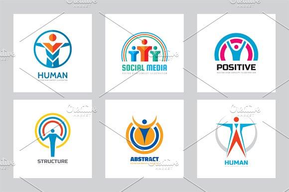 Abstract Human People Vector Logo