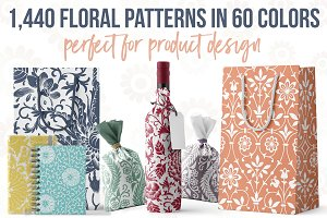 1,440 Floral Patterns in 60 Colors