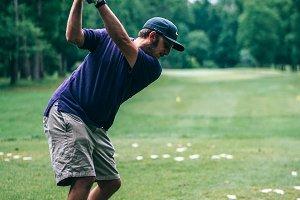 Golf Player Playing a Chip Shot