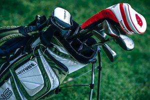 Golf Club Bag Full of Clubs