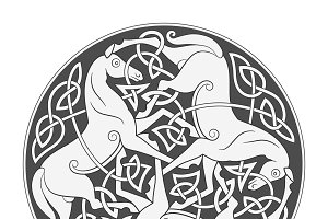 Celtic horse symbol