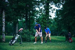 Players Tee Off Golf Ball