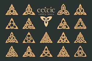 Vector celtic trinity knot