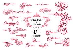 Vintage frames and elements