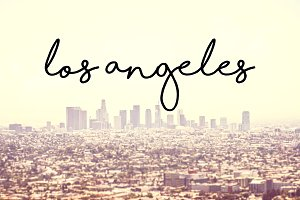 Los Angeles Font Overlay