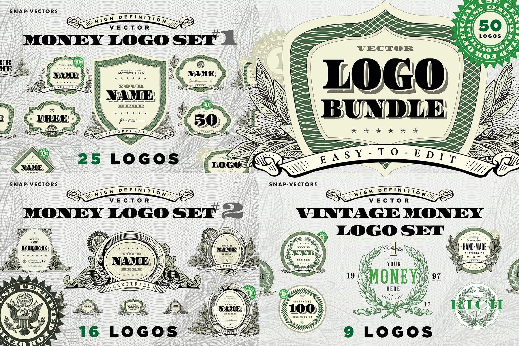 Vector Money Logo Bundle ~ Logo Templates ~ Creative Market