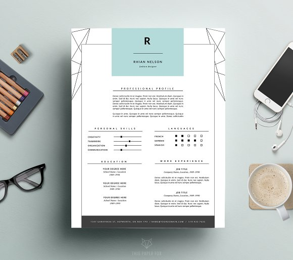 modern resume cover letter ms word resume templates creative