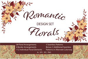 Romantic Florals Design Set