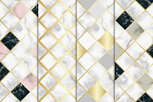 4 Seamless Marble Patterns