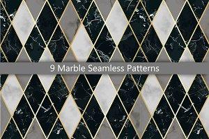 9 Marble Seamless Pattern Set
