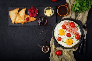 English breakfast - fried egg