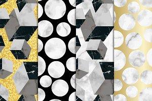 4 Marble Seamless Pattern Set