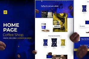 Coffee Shop - Elementor Pro Layout