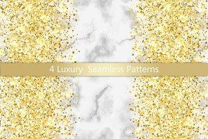 4 Luxury Seamless Pattern Set