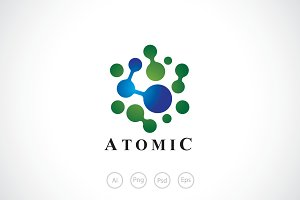 Atomic Hexagon Logo Template