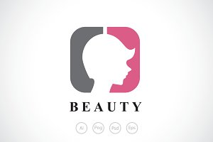 Beauty Saloon for Girl Logo Template