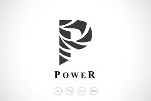 Power Swirl Ribbon Logo Template