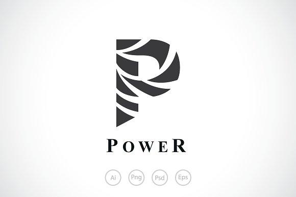 Power Swirl Ribbon Logo Template