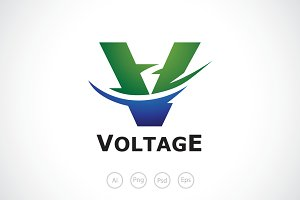 Swirl Voltage Logo Template