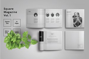 Square Magazine Template Indesign