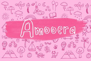 Amooera Handdrawn font childish fun