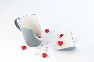 Broken dishes. Broken feelings and attitudes.