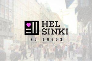 Helsinki - 25 Minimal Vintage Logos