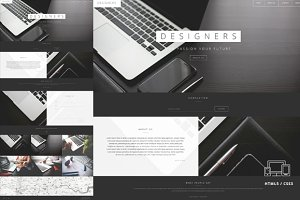 Designers One Page HTML5 Template