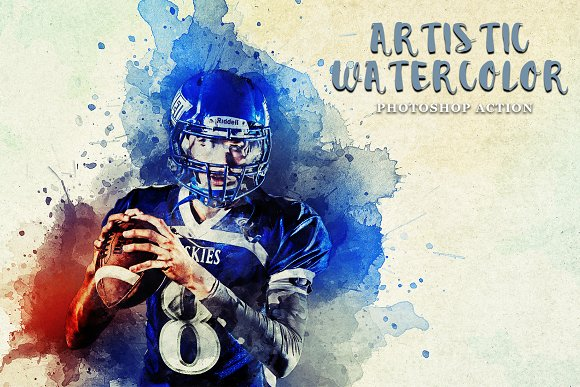 Artistic Watercolor PS Action