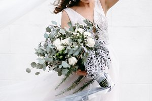 Amazing tenderness with a bouquet