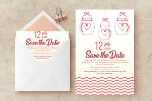 Wedding Card invite Template Vol: 06