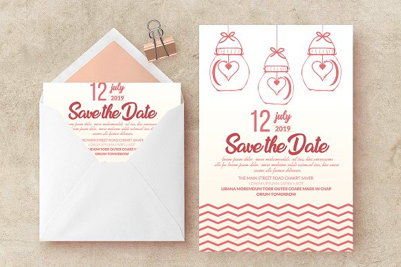 Wedding Card Invite Template Vol 06